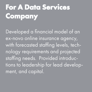 For a Data Services Company